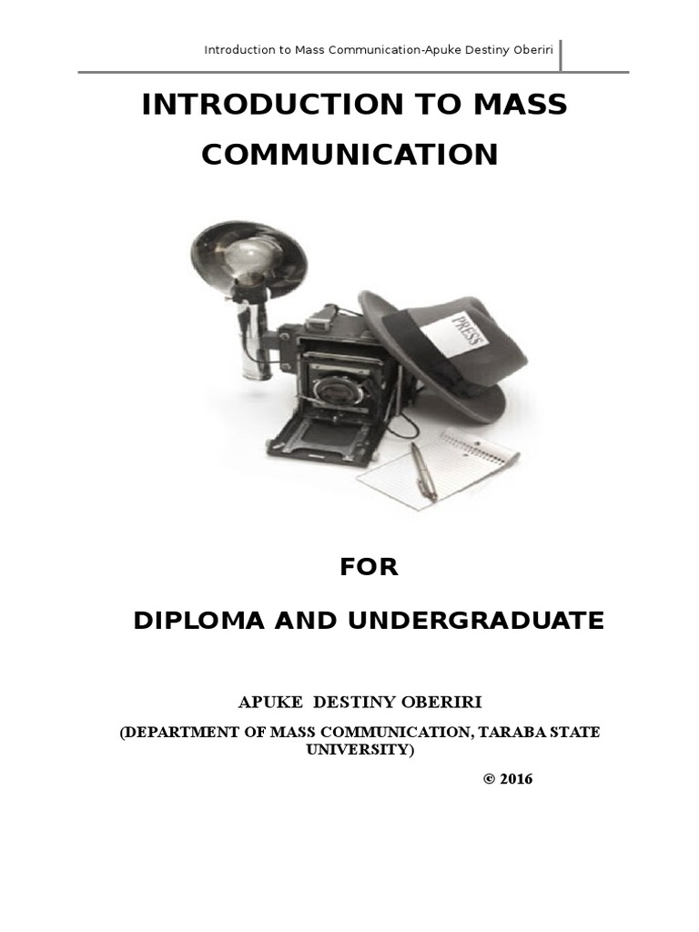 introduction to mass communication Looking for textbooks for your mass communication course click here to learn more at bedford st martin's publishers.