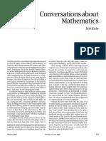 Conversations about Mathematics