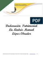 Declaraciones patrimoniales de AMLO 200–2004