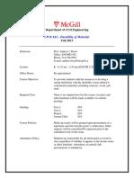 CIVE 623 Syllabus - 2013 Fall