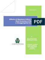 Effects of Monetary Policy on the Real Economy of Nigeria - A Disaggregated Analysis