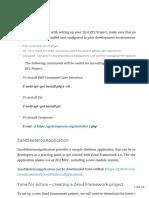 Your First Zend Framework Application