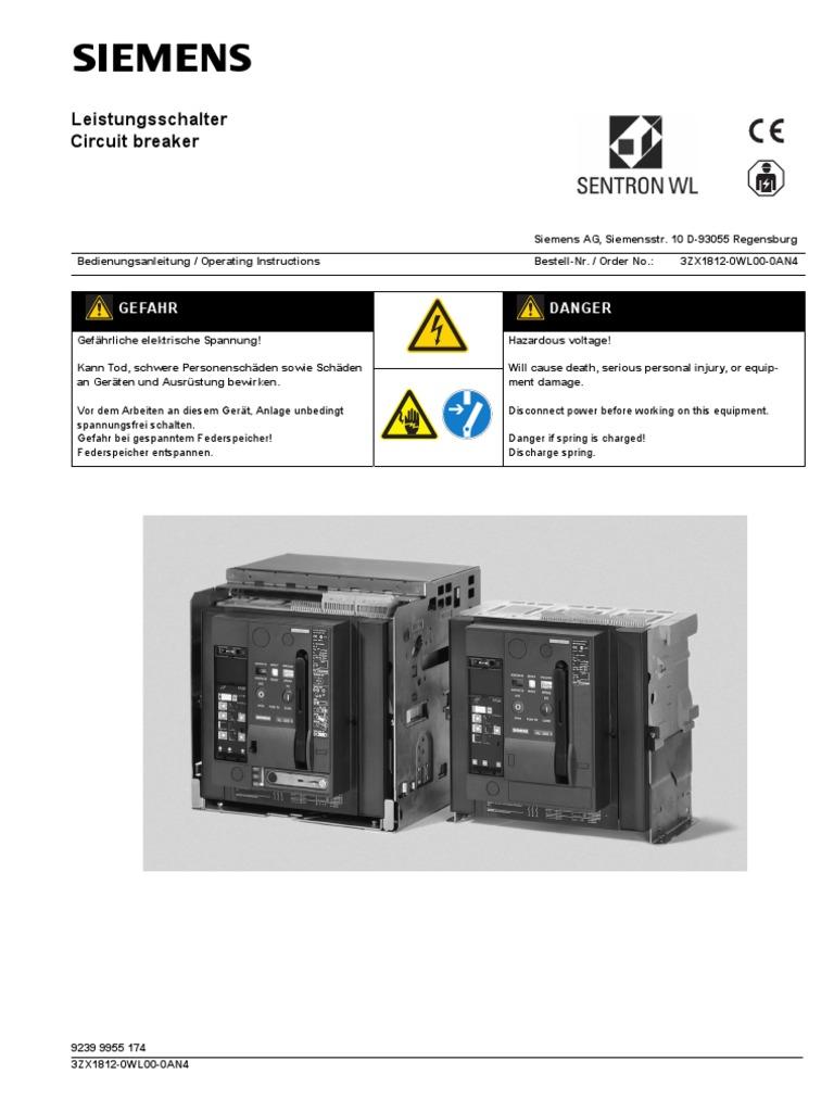 Siemens 3WL ACB Manual