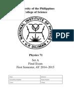 Final Exam 1st Sem