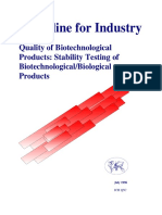 Biotech Stability Testing Guideline