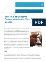 1. the 7 Cs of Effective Communication in Your Online Course - OnlineCollege