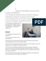 Fluid Mechanics. Water Jet Procedure.