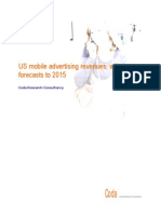 US Mobile Advertising Revenues With Forecasts to 2015 ABSTRACT