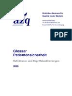 Glossar- Patientensicherheit