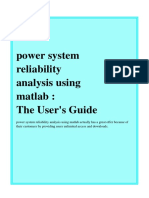 Power System Reliability Analysis Using Matlab