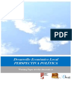Desarrollo Económico Local. PERSPECTIVA POLÍTICA