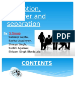 Sankalp Promotion Transfer and Separation