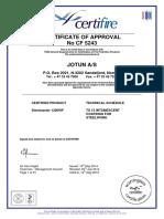 Steelmaster 1200WF Warrington Certificate
