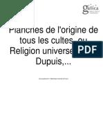 Atlas - Planches astrologiques de l'Origine Astrologique Des Cultes Et Religions