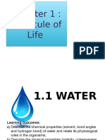 1.1 Water (Note)
