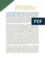 Sobre La Inmunidad Jurisdiccional de Estados Extranjeros y Su Afectación Al Contrato de Trabajo