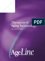 Thesaurus of Aging Terminology