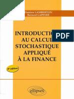 Damien Lamberton, Bernard Lapeyre-Introduction Au Calcul Stochastique Appliqué à La Finance-Ellipses Marketing (2012)