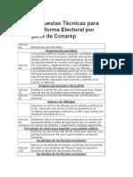 Propuestas Técnicas Para La Reforma
