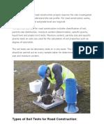 Soil Test for Road Construction