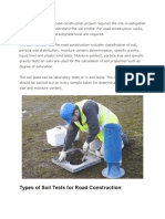 Soil Test for Road Construction