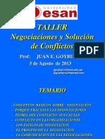 Taller Servir Negociaciones y Solucion de Conflictos