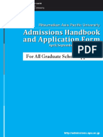 2016PG Graduate Admissions Handbook