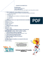 Examen de Anatibioticos
