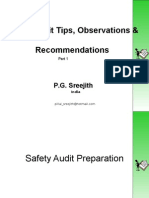 Safety Audit Observations & Recommmendations