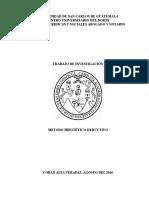 Método Hipotético Deductivo MODIFICADO 1