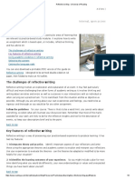 Reflective Writing - University of Reading