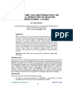 IMPACT OF MSP, AUC AND PRODUCTIVITY ON OVERALL  PRODUCTION OF SELECTED CROPS IN INDIA