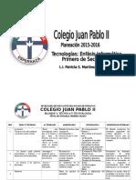 Formato Planeacion Primero de Sec 2015-2016