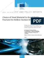 Choice of Steel Material to Avoid Brittle Fracture for Hollow Section Structures