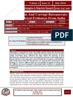 Honest System and Corrupt Bureaucrats - Some Empirical Evidences