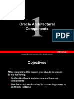 Oracle ArchitecturalComponents