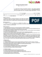 Contract de Prestari Servicii - Bizz Club 2014 - Model Nou