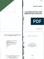 Meiser, G. - Lautgeschichte Der Umbrischen Sprache