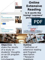 Extensive Reading - Students' perspectives