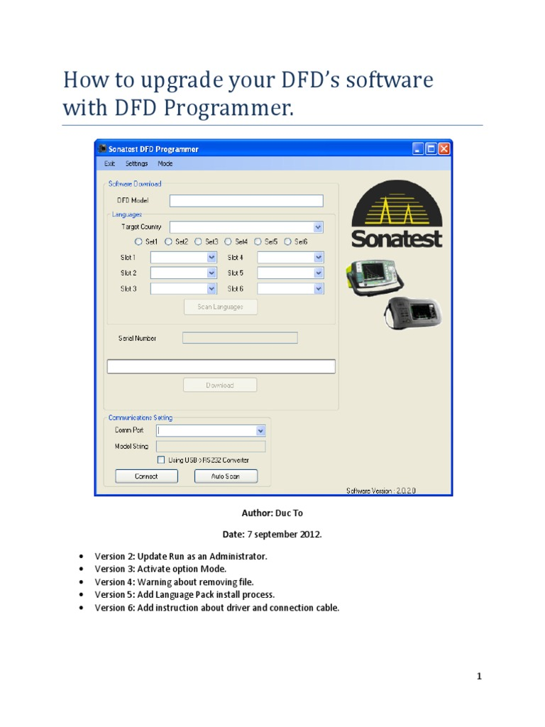 how to upgrade your dfds software booting computer file - Software Dfd