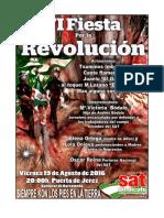 MANIFIESTO Y CARTEL  FIESTA POR LA REVOLUCION SAT Sanlucar 2016