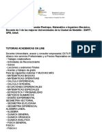 Tutorias Academicas on Line