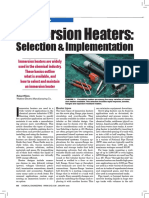 Immersion Heaters-Selection & Implementation-Article From Chemical Engineering January-2006