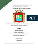 Tesis Análisis y Simulación Hidrológica de La Subcuenca Del