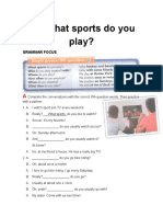 10 What Sports Do You Play