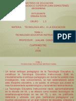 TEMA 3 Tecnologia Educativa Instruccional