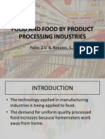 Food and Food by Product Processing Industries