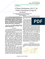 Synthesis of Planar Mechanisms, Part X