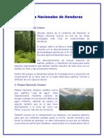 Parques Nacionales de Honduras