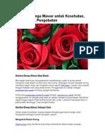 Manfaat Bunga Mawar Untuk Kesehatan 2